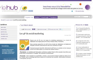 http://www.laposte.fr/lehub/Les-4P-du-social-marketing