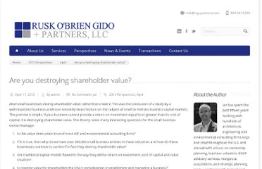 http://rog-partners.com/are-you-destroying-shareholder-value/