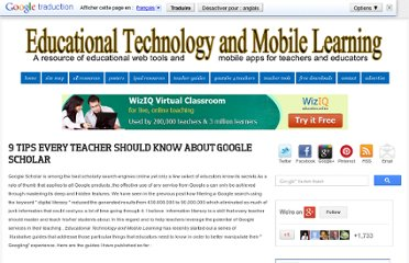 http://www.educatorstechnology.com/2013/04/9-tips-every-teacher-should-know-about.html