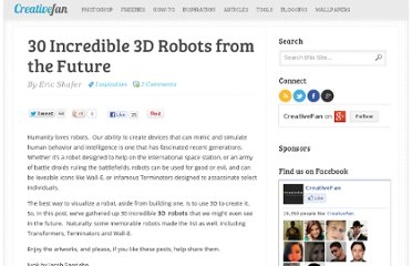http://creativefan.com/30-incredible-3d-robots-from-the-future/