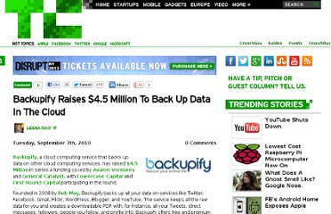 http://techcrunch.com/2010/09/07/backupify-raises-4-5-million-to-back-up-data-in-the-cloud/
