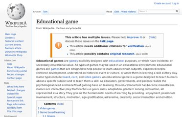 http://en.wikipedia.org/wiki/Educational_game