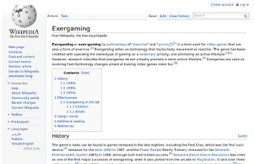 http://en.wikipedia.org/wiki/Exergaming