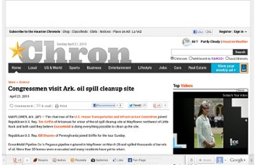http://www.chron.com/news/science/article/Congressmen-visit-Ark-oil-spill-cleanup-site-4451748.php