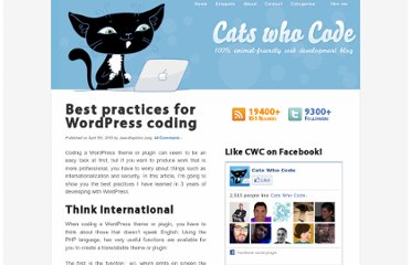 http://www.catswhocode.com/blog/best-practices-for-wordpress-coding