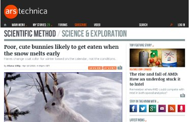 http://arstechnica.com/science/2013/04/poor-cute-bunnies-likely-to-get-eaten-when-the-snow-melts-early/