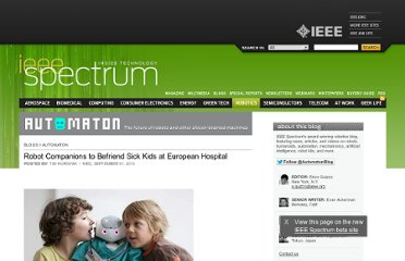 http://spectrum.ieee.org/automaton/robotics/artificial-intelligence/robot-companions-to-befriend-sick-kids-at-european-hospital