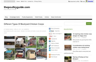 http://thepoultryguide.com/different-types-of-backyard-chicken-coops/