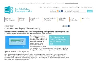 https://www.getsafeonline.org/news/confusion-over-legality-of-downloading/