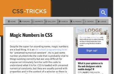 http://css-tricks.com/magic-numbers-in-css/