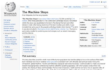 http://en.wikipedia.org/wiki/The_Machine_Stops