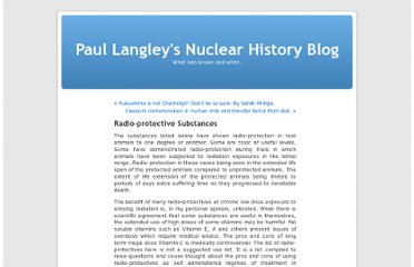http://nuclearhistory.wordpress.com/2013/04/23/radio-protective-substances/