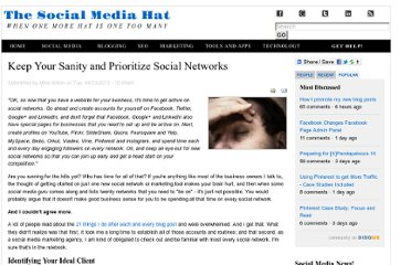http://www.thesocialmediahat.com/blog/keep-your-sanity-and-prioritize-social-networks-04232013