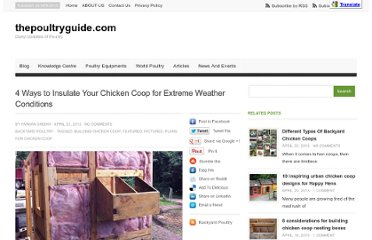 http://thepoultryguide.com/insulating-chicken-coop-for-hot-and-cold-weather/