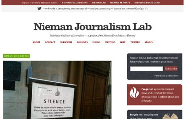 http://www.niemanlab.org/2013/04/breaking-news-pragmatically-some-reflections-on-silence-and-timing-in-networked-journalism/