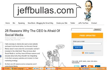 http://www.jeffbullas.com/2009/08/08/28-reasons-why-the-ceo-is-afraid-of-social-media/