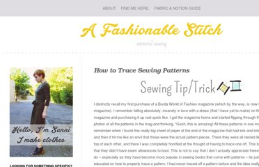 http://www.afashionablestitch.com/2013/shop_talk/how-to-trace-sewing-patterns/