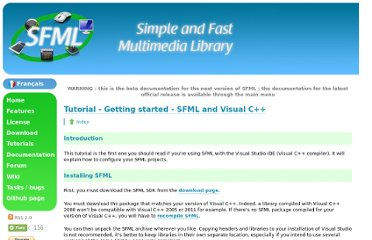 http://www.sfml-dev.org/tutorials/2.0/start-vc.php
