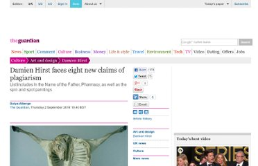 http://www.guardian.co.uk/artanddesign/2010/sep/02/damien-hirst-plagiarism-claims