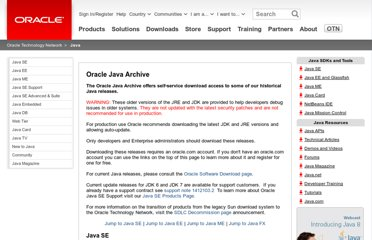 http://www.oracle.com/technetwork/java/archive-139210.html