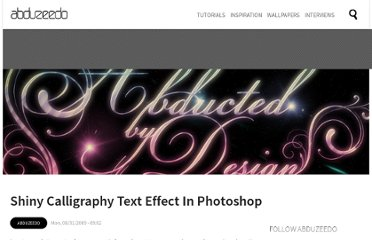 http://abduzeedo.com/shiny-caligraphy-text-effect-photoshop