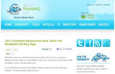 http://www.braintraining101.com/101-excellent-resources-for-students-of-any-age/