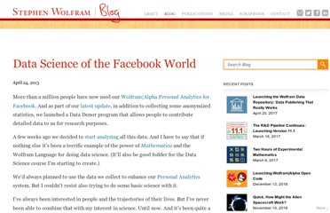 http://blog.stephenwolfram.com/2013/04/data-science-of-the-facebook-world/