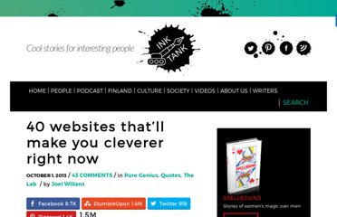 http://inktank.fi/40-websites-that-will-make-you-cleverer-right-now/