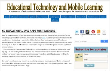 http://www.educatorstechnology.com/2013/04/60-educational-ipad-apps-for-teachers.html