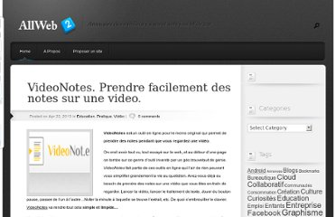 http://allweb2.com/2013/04/videonotes-prendre-facilement-des-notes-sur-une-video/