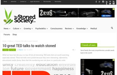 http://thestonedsociety.com/10-great-ted-talks-to-watch-stoned/