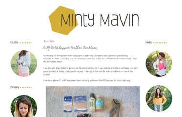 http://mintymavin.blogspot.com/2012/11/diy-gold-dipped-feather-necklace.html