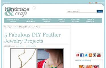 http://handmadeandcraft.com/5-fabulous-diy-feather-jewelry-projects/