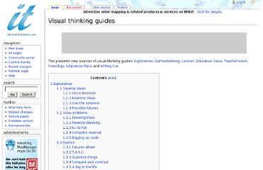 http://www.informationtamers.com/WikIT/index.php?title=Visual_thinking_guides