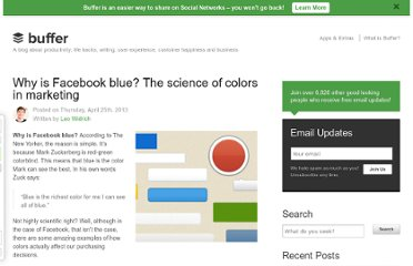http://blog.bufferapp.com/the-science-of-colors-in-marketing-why-is-facebook-blue
