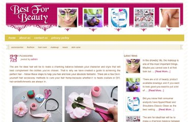 http://bestforbeauty.org/2013/02/23/diy-hair-accessories/