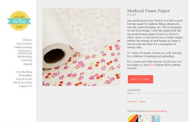 http://shop.afashionablestitch.com/product/medical-exam-paper-by-the-roll