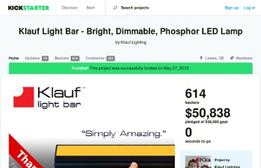 http://www.kickstarter.com/projects/klauf/klauf-light-bar-bright-dimmable-phosphor-led
