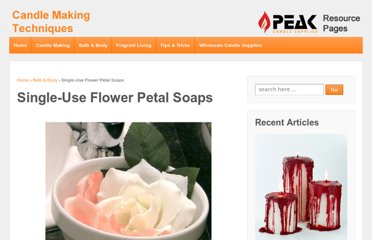 http://www.candletech.com/soap-making/single-use-flower-petal-soaps/
