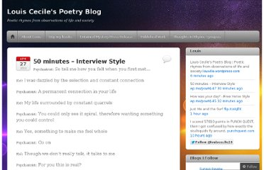 http://louiville.wordpress.com/2013/04/27/50-minutes-interview-style/