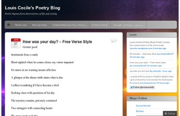 http://louiville.wordpress.com/2013/04/27/how-was-your-day-free-verse-style/