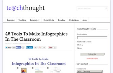 http://www.teachthought.com/technology/46-tools-to-make-infographics-in-the-classroom/