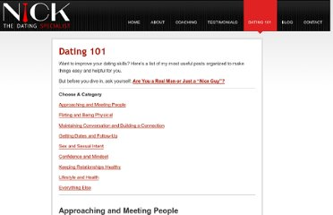 http://www.thedatingspecialist.com/dating-101/