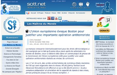http://fr.sott.net/article/14675-L-Union-europeenne-evoque-Boston-pour-justifier-une-importante-operation-antiterroriste