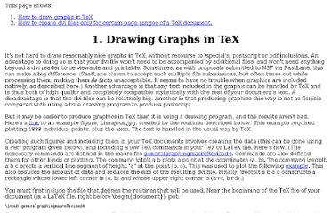 http://www.math.unl.edu/~bharbourne1/GraphTeX/MoreTeXResources.html