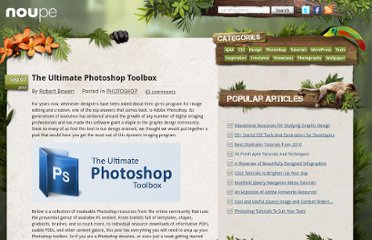 http://www.noupe.com/photoshop/the-ultimate-photoshop-toolbox.html