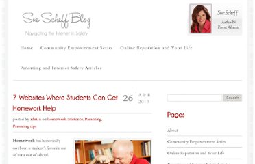 http://www.suescheffblog.com/7-websites-where-students-can-get-homework-help/
