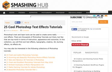 http://smashinghub.com/25-cool-photoshop-text-effects-tutorials.htm