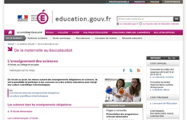 http://www.education.gouv.fr/cid54197/l-enseignement-des-sciences.html#Culture%20scientifique%20et%20technologique