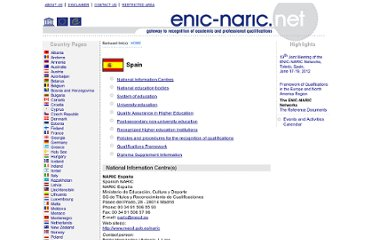 http://enic-naric.net/index.aspx?c=Spain#Qualifications%20Framework0